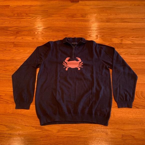 Brooks Brothers Navy Quarter Zip Sweater